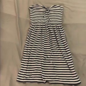American Eagle striped dress strapless XS